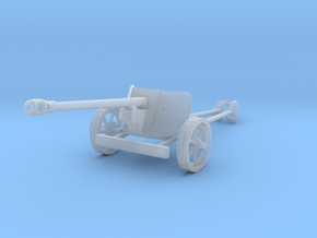 1/144 12mm scale Pak40 german anti tank gun WW2 in Smooth Fine Detail Plastic