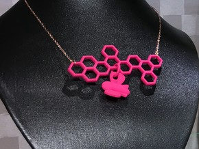 Honeycomb with Bee in Pink Processed Versatile Plastic