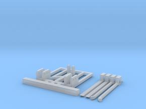 H0 1:87 Palettengabel für Heckanbau in Smooth Fine Detail Plastic