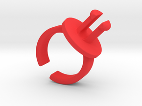 FIDGET SPINNER RING MOUNT (LARGE) in Red Processed Versatile Plastic