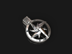 Shuriken Pendant in Rhodium Plated Brass