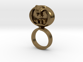 Dark Helmet's ring from Spaceballs Schwartz in Polished Bronze