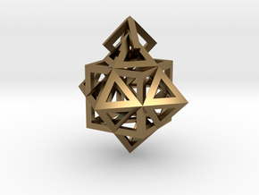 Gamma Star Earring in Polished Bronze (Interlocking Parts)