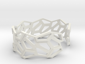 STEIN Cuff Bracelet in White Natural Versatile Plastic: Small