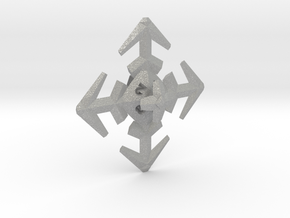 Snowflake D8 in Raw Aluminum