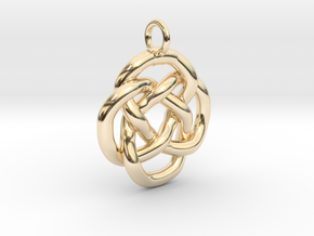 Knot keyring in 14K Yellow Gold