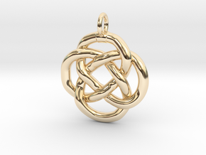 Knot pendant in 14k Gold Plated