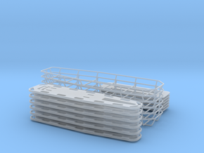 1-18 Spine Board Baskets 6ea in Smooth Fine Detail Plastic