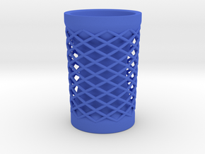 "Straight Vase (4.5"" height) in Blue Processed Versatile Plastic"