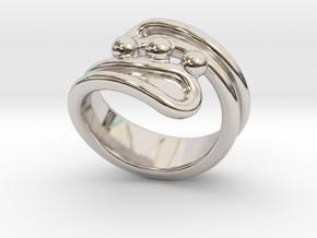 Threebubblesring 17 - Italian Size 17 in Platinum