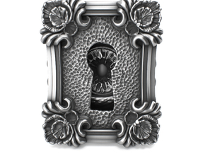 Keyhole Baroque - Huge Detailed Sterling Silver Ri in Polished Silver: 4 / 46.5