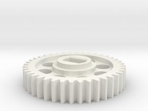 Rotastage Motor Gear in White Natural Versatile Plastic
