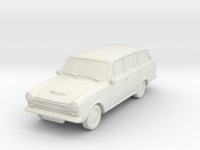 1-87 Ford Cortina Mk1 Estate Wheels Attached in White Natural Versatile Plastic