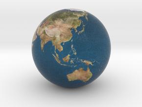 Earth Globe in Full Color Sandstone
