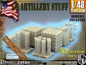 1-48 US Artillery Stuff in Smooth Fine Detail Plastic