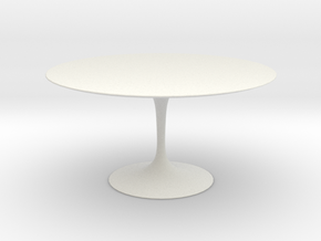 Saarinen Table-1:12 in White Natural Versatile Plastic: 1:12