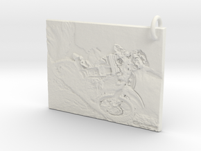 Dirt bike Pendant in White Natural Versatile Plastic