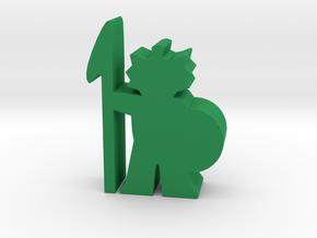 Game Piece, Fishfolk Guard in Green Processed Versatile Plastic