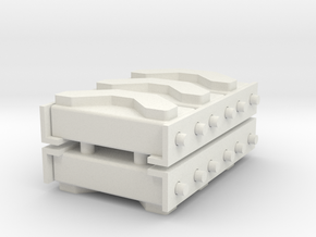 1/16 M3 / M4 Spare Track Rack (3) in White Natural Versatile Plastic