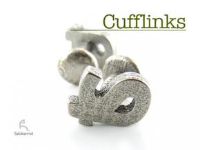 TS - Cufflinks in Polished Bronzed Silver Steel