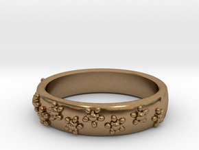 Flower Band in Natural Brass