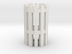 Duckdalben 12er mit Innenstreben 1:120 in White Natural Versatile Plastic