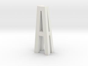 Duckdalben 4er mit Innenstreben 1:120 in White Natural Versatile Plastic