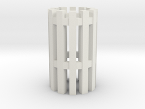 Duckdalben 12er ohne Innenstreben 1:120 in White Natural Versatile Plastic