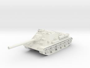 SU-85 tank (Russia) 1/87 in White Natural Versatile Plastic