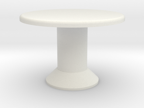 Table, Tessera Tall (Space: 1999), 1/30 in White Natural Versatile Plastic