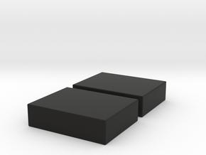 2PK 8X12 SOBERTON OFFSET SPEAKER ENCLOSURE in Black Natural Versatile Plastic