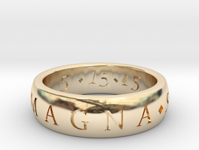 CUSTOM Sic Parvis Magna Ring in 14K Yellow Gold