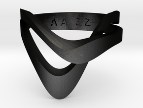 KAZE METAL matte black in Matte Black Steel: 4 / 46.5