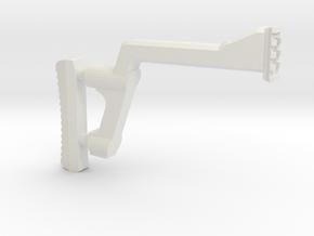 GMU Shoulder Stock (Long Version) in White Natural Versatile Plastic