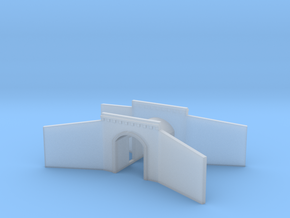 Tunnel portal single track - T scale 1:450 in Smooth Fine Detail Plastic