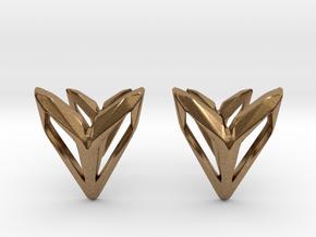 Phantom, Cufflinks. Space Chic in Natural Brass