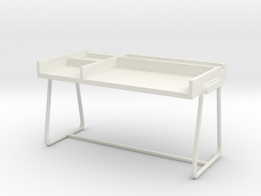 Desk, Type B (Space: 1999), 1/30 in White Natural Versatile Plastic