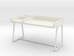 Desk, Type B (Space: 1999), 1/30 in White Natural Versatile Plastic