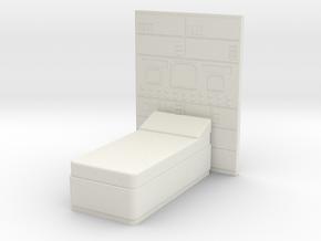 Medical Center Bed, Season 1 (Space:1999), 1/30 in White Natural Versatile Plastic