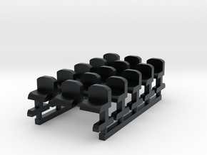 Bench type B - Z scale 1:220 in Black Hi-Def Acrylate