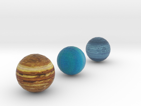 Detailed Jupiter Neptune and Uranus set  in Full Color Sandstone