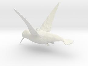 Hummingbird Hanging Ornament in White Natural Versatile Plastic