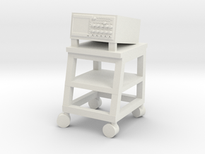 Diagnostic Monitor on Cart B (Space: 1999), 1/30 in White Natural Versatile Plastic