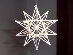 Stellated icosahedron (thin) in White Natural Versatile Plastic