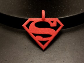 Superman Keychain in Red Processed Versatile Plastic