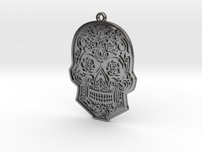 Skull Charm in Polished Silver