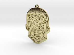 Skull Charm in 18k Gold Plated Brass