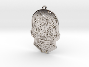 Skull Charm in Rhodium Plated Brass