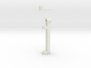 Set: Flap Blade & T-Bolt V03 1/100 in White Natural Versatile Plastic