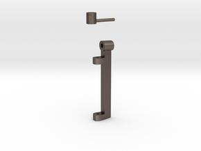 Set: Flap Blade & T-Bolt V03 1/100 in Polished Bronzed Silver Steel